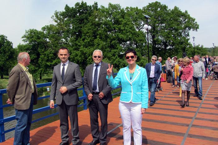 Ilustracja do informacji: Nowy most w Łęknicy