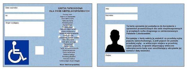 Ilustracja do informacji: Karty parkingowe w Żaganiu