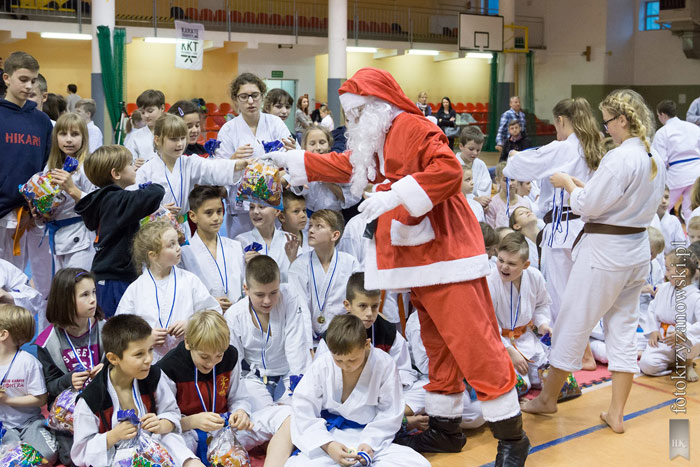 Ilustracja do informacji: Mikołajkowe karate pod patronatem Starosty