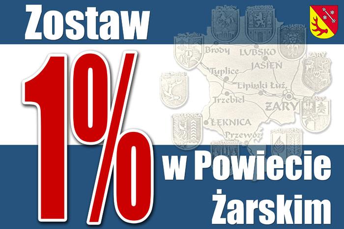 Ilustracja do informacji: Zostaw 1% w Powiecie Żarskim