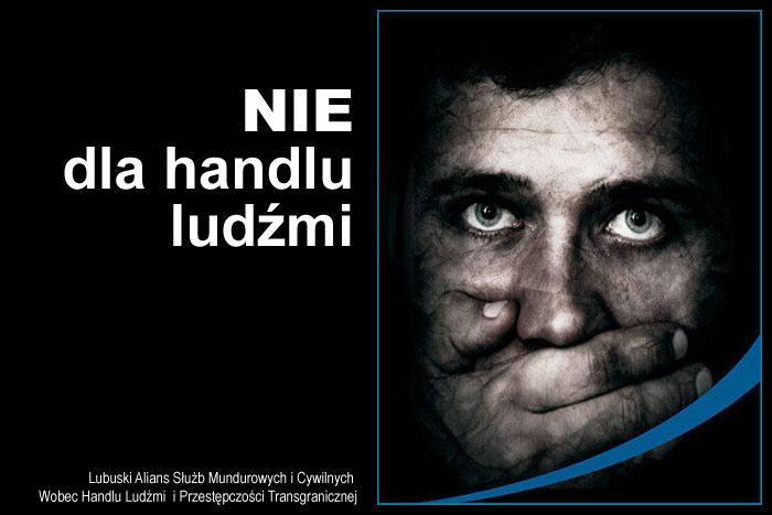Ilustracja do informacji: NIE dla handlu ludźmi