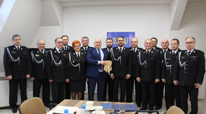 Ilustracja do informacji: Posiedzenie Zarządu i Komisji Rewizyjnej Oddziału Powiatowego Związku Ochotniczych Straży Pożarnej RP w Żarach