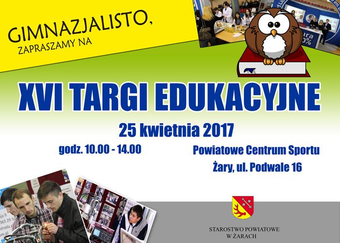 Ilustracja do informacji: Zaproszenie na XVI Targi Edukacyjne