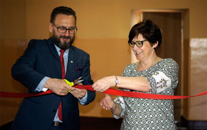Ilustracja do informacji: Otwarcie nowej pracowni komputerowej w Zespole Szkół Ogólnokształcących i Ekonomicznych w Lubsku