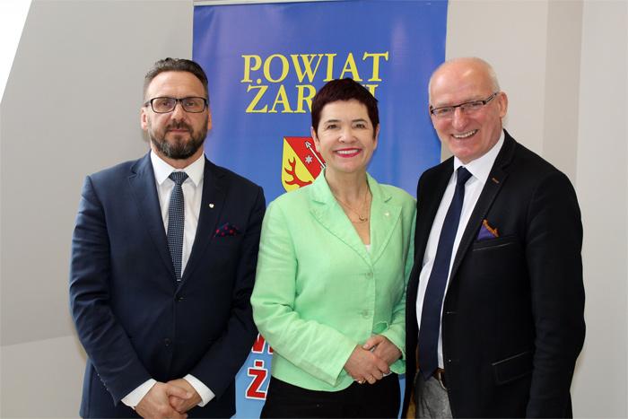 Ilustracja do informacji: Spotkanie Starosty i Wicestarosty z Posłem na Sejm RP Jackiem Kurzępą