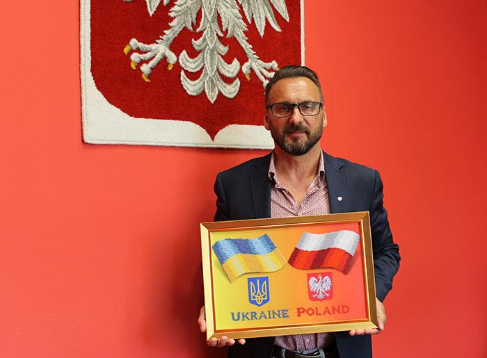 Ilustracja do informacji: Starosta Żarski Janusz Dudojć z wizytą na Ukrainie