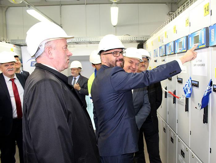 Ilustracja do informacji: Uroczyste uruchomienie nowej linii napowietrznej wysokiego napięcia 110 kV relacji Nowogród Bobrzański - Żary