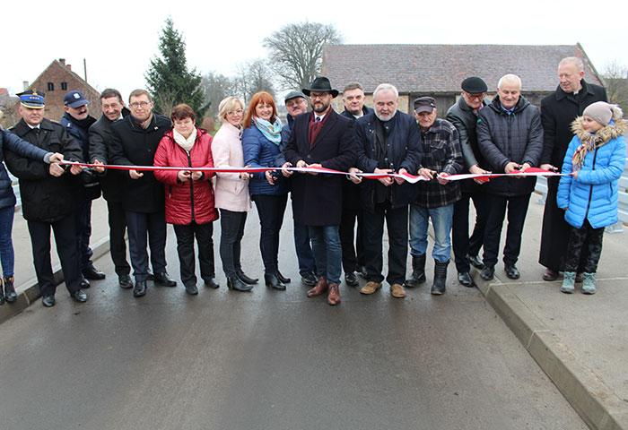 Ilustracja do informacji: Most w Grabkowie oficjalnie otwarty
