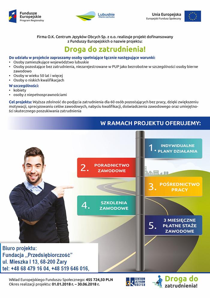 Ilustracja do informacji: Projekt DROGA DO ZATRUDNIENIA