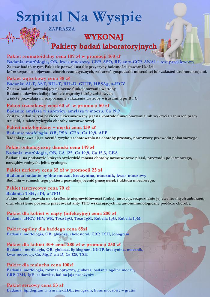 Ilustracja do informacji: Pakiety badań laboratoryjnych