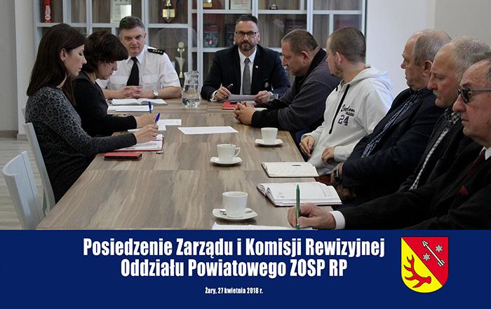 Ilustracja do informacji: Posiedzenie Zarządu i Komisji Rewizyjnej Zarządu Oddziału Powiatowego ZOSP RP
