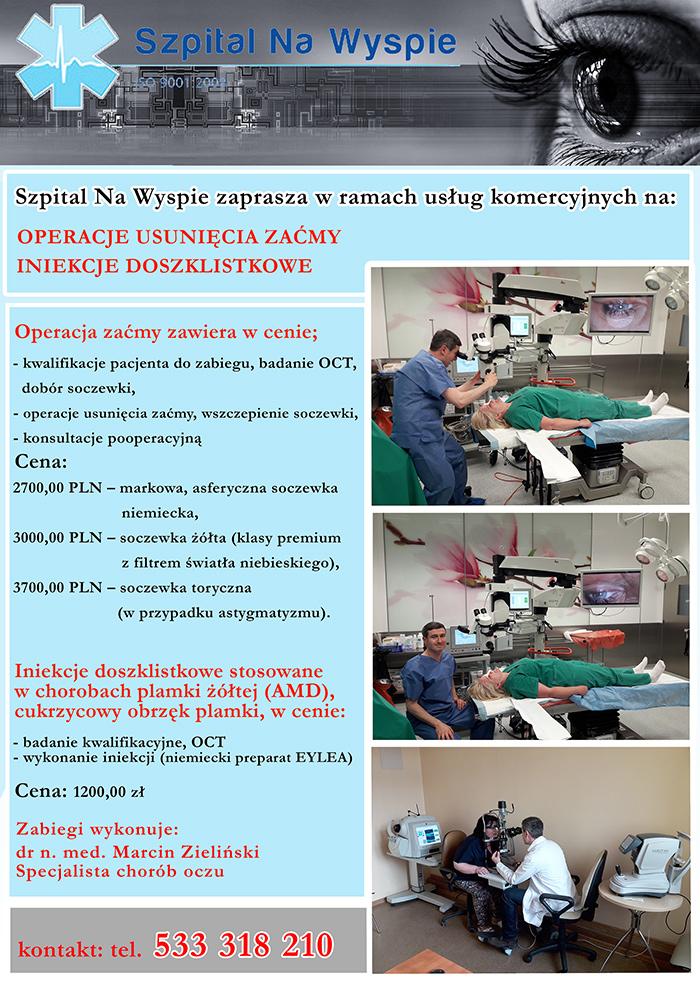 Ilustracja do informacji: Usługi komercyjne w Szpitalu Na Wyspie w Żarach