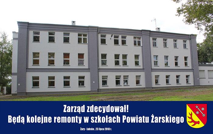 Ilustracja do informacji: Zarząd zdecydował! Będą kolejne remonty w szkołach Powiatu Żarskiego