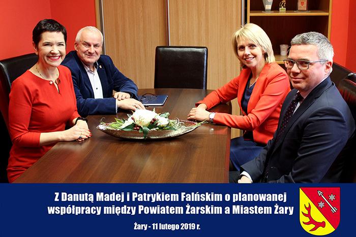 Ilustracja do informacji: Z Danutą Madej i Patrykiem Falińskim o planowanej współpracy między Powiatem Żarskim a Miastem Żary