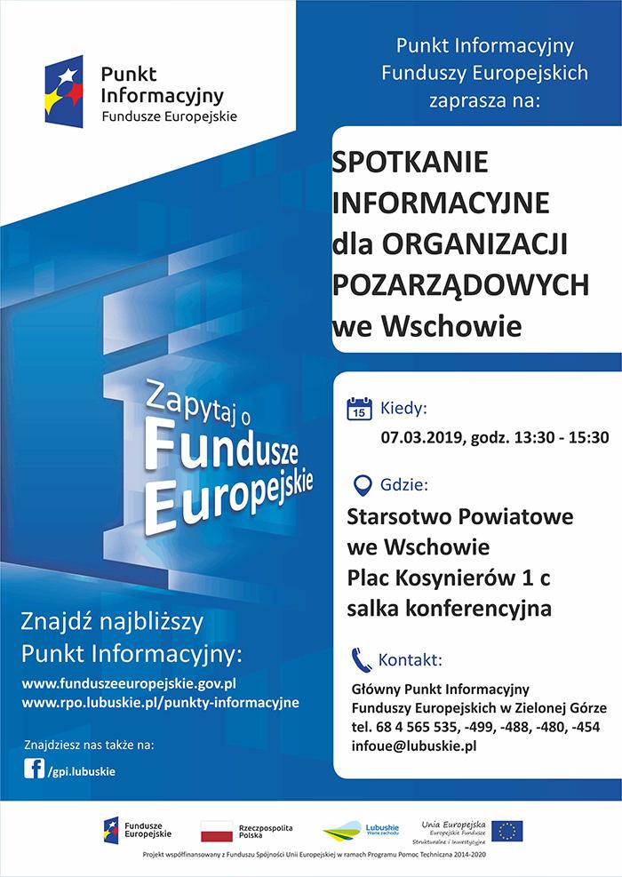 Ilustracja do informacji: Zaproszenie do udziału w spotkaniach informacyjnych dotyczących możliwości pozyskania wsparcia przez lubuskie organizacje pozarządowe