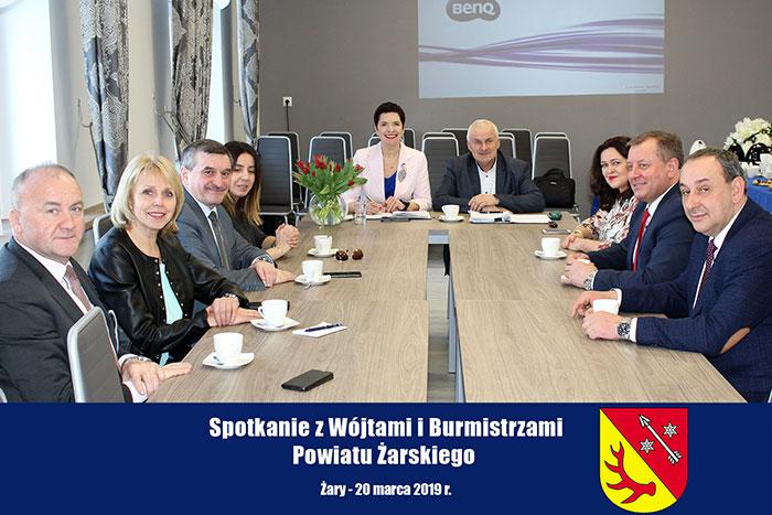 Ilustracja do informacji: Spotkanie z Wójtami i Burmistrzami Powiatu Żarskiego