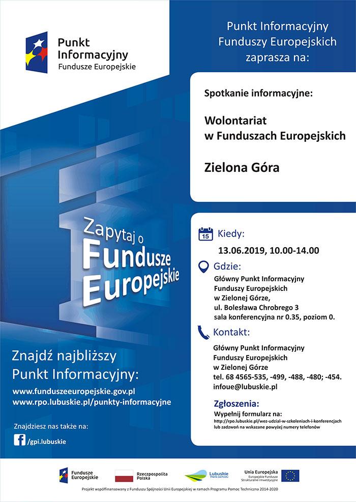 """Ilustracja do informacji: Spotkanie informacyjne """"Wolontariat w Funduszach Europejskich"""""""