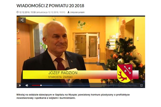 Ilustracja do informacji: WIADOMOŚCI Z POWIATU 20/2018