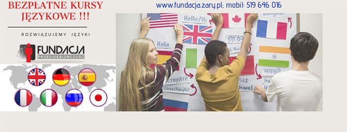 """Ilustracja do informacji: Fundacja """" Przedsiębiorczość"""" rozpoczęła kolejne nabory na kursy językowe i komputerowe"""