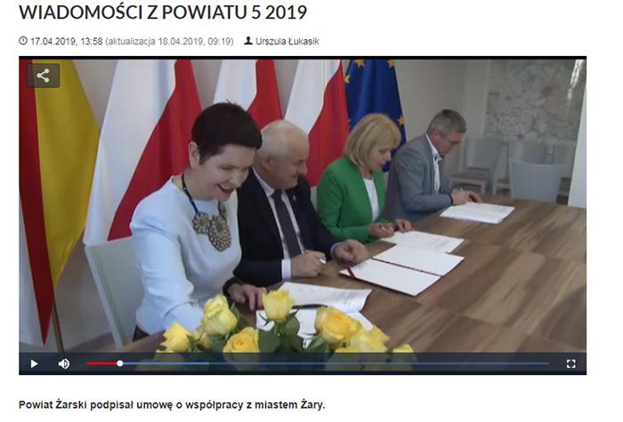 Ilustracja do informacji: WIADOMOŚCI Z POWIATU 5/2019