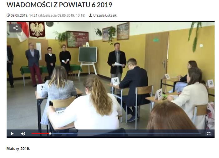 Ilustracja do informacji: WIADOMOŚCI Z POWIATU 6/2019