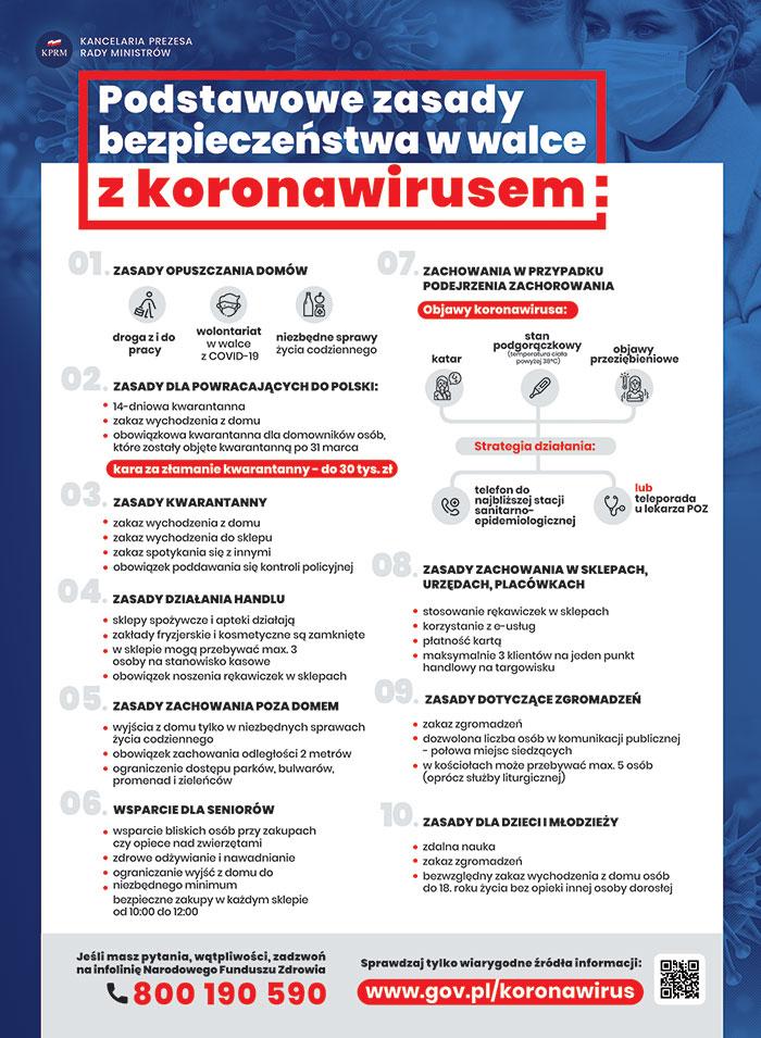 Ilustracja do informacji: Podstawowe zasady bezpieczeństwa w walce z koronawirusem