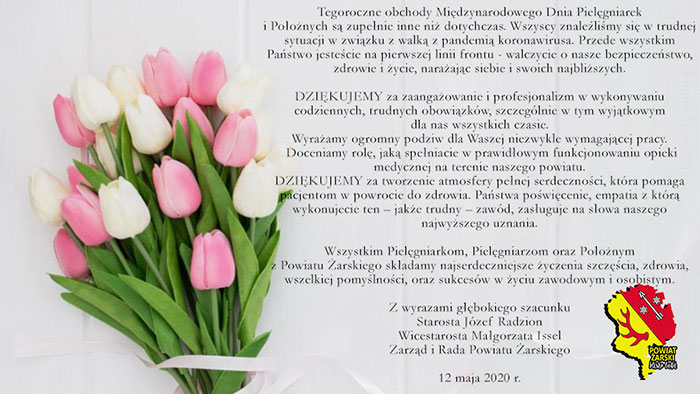 Ilustracja do informacji: Międzynarodowy Dzień Pielęgniarek i Położnych.