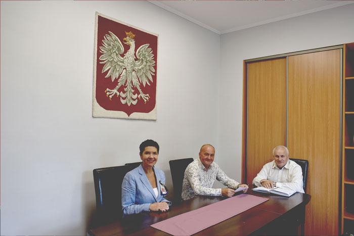 Ilustracja do informacji: Spotkanie Starosty i Wicestarosty z Burmistrzem Jasienia