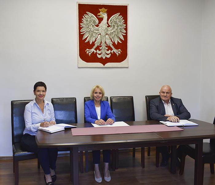 Ilustracja do informacji: Spotkanie Starosty i Wicestarosty z Burmistrzem Miasta Żary
