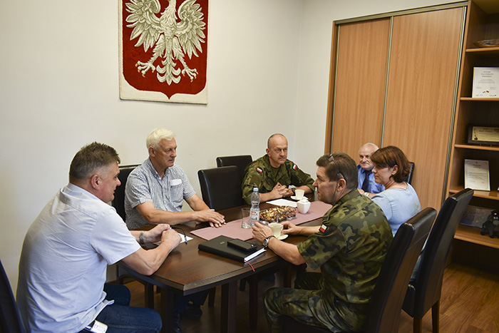 Ilustracja do informacji: Spotkanie Starosty z Wojskowym Komendantem Uzupełnień
