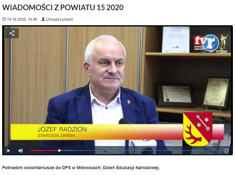 Ilustracja do informacji: WIADOMOŚCI Z POWIATU 15/2020
