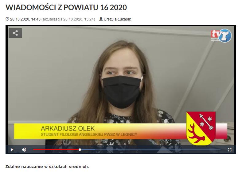 Ilustracja do informacji: WIADOMOŚCI Z POWIATU 16/2020