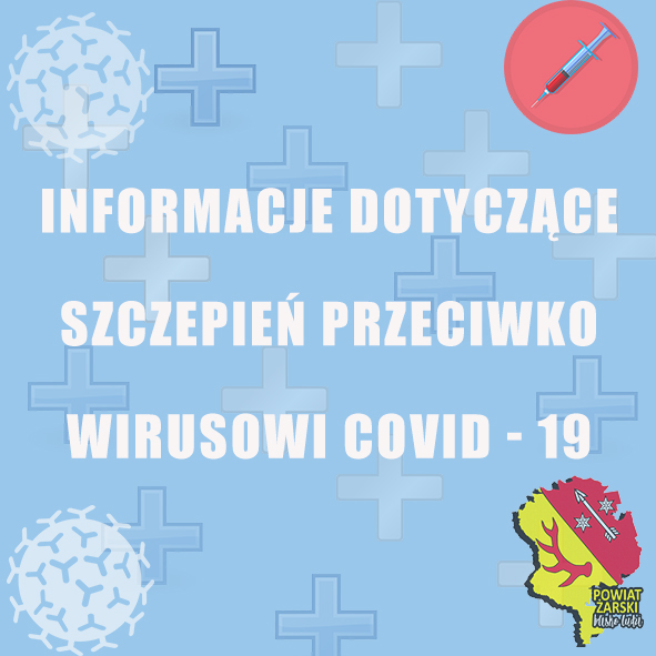 Ilustracja do informacji: Szczepienia przeciwko COVID-19 w Powiecie Żarskim