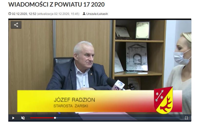 Ilustracja do informacji: WIADOMOŚCI Z POWIATU 17/2020