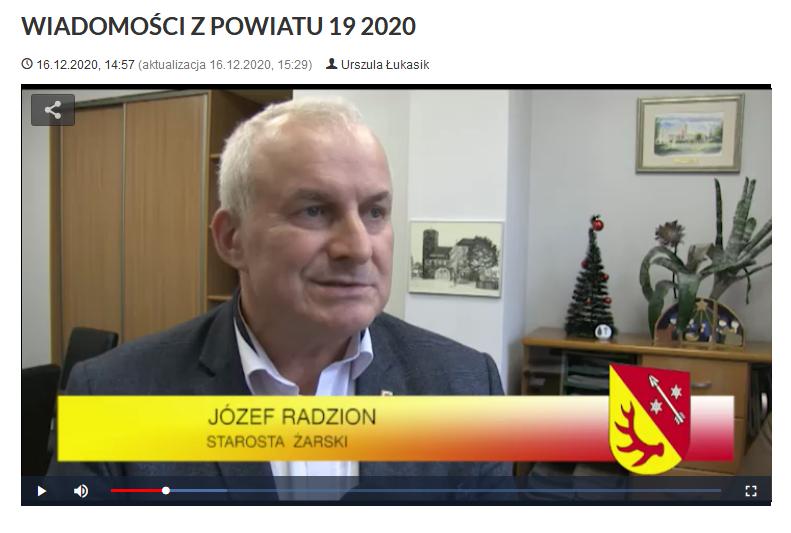 Ilustracja do informacji: WIADOMOŚCI Z POWIATU 19/2020