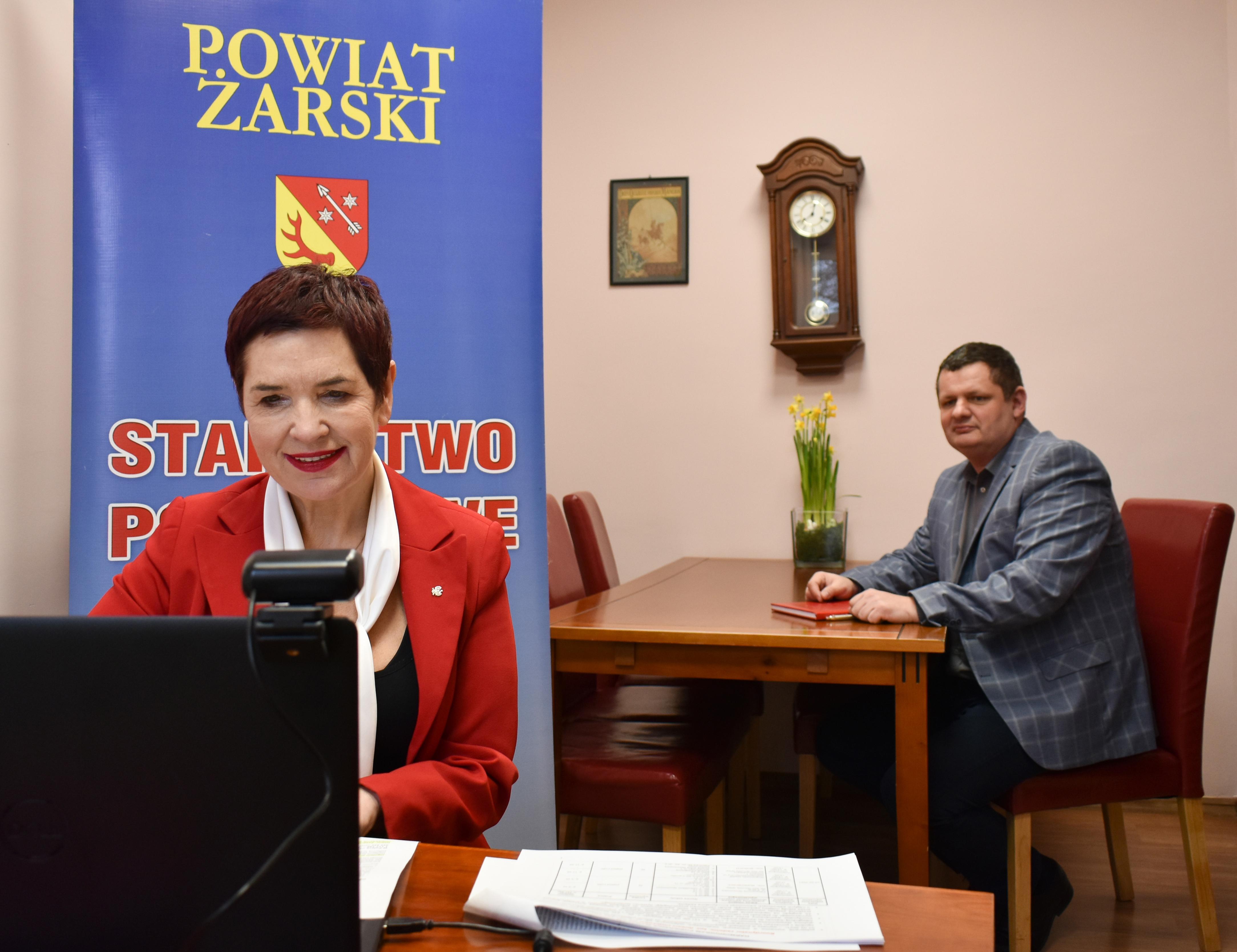 Ilustracja do informacji: Wideokonferencja Wojewody Lubuskiego z samorządowcami.