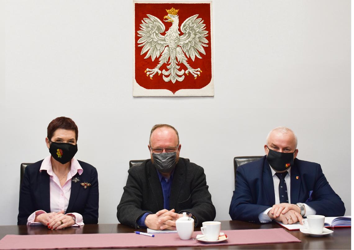 Ilustracja do informacji: Spotkanie Starosty i Wicestarosty z Radnym Sejmiku Wojewódzkiego.
