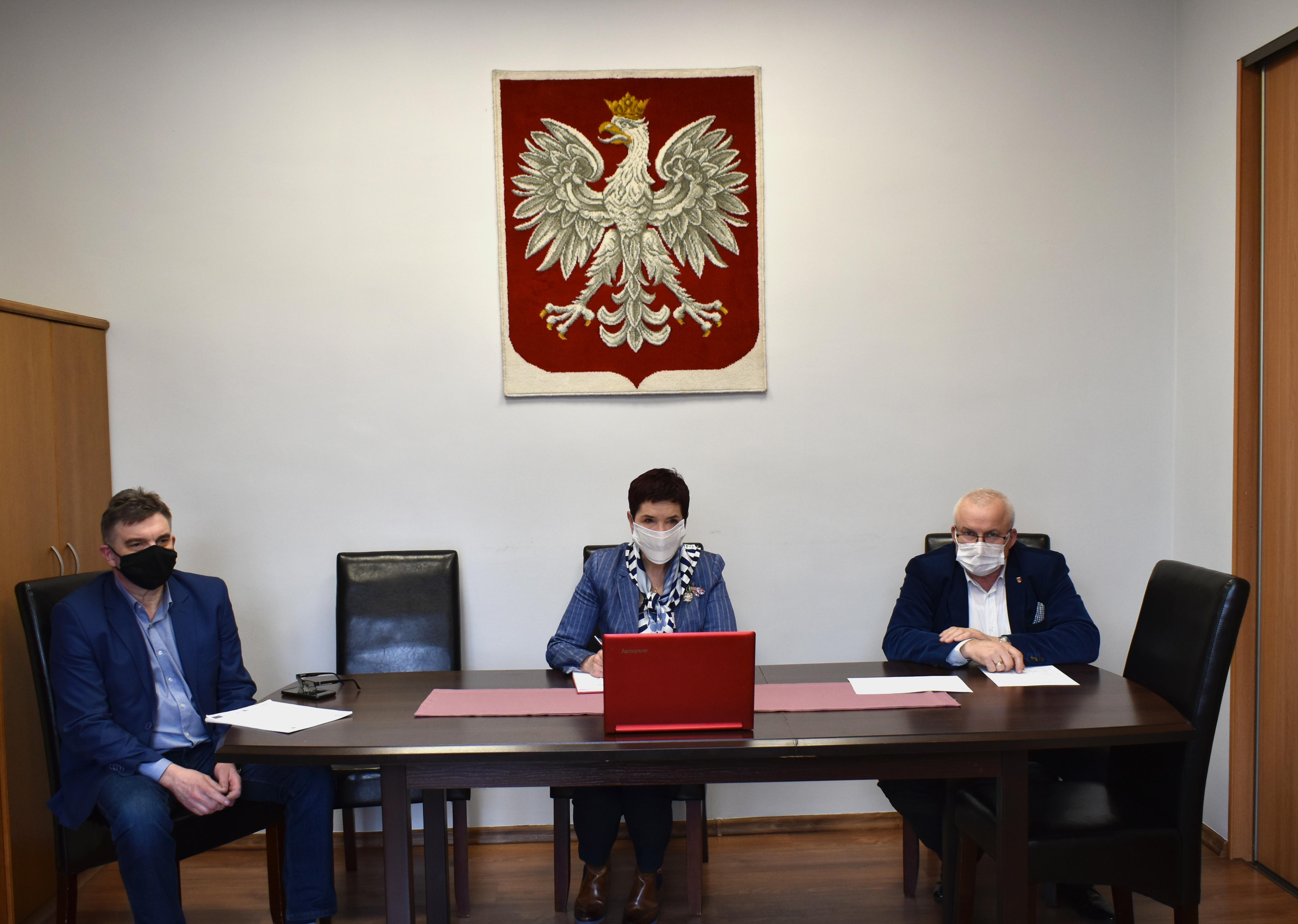 Ilustracja do informacji: Wideokonferencja z Wojewodą Lubuskim