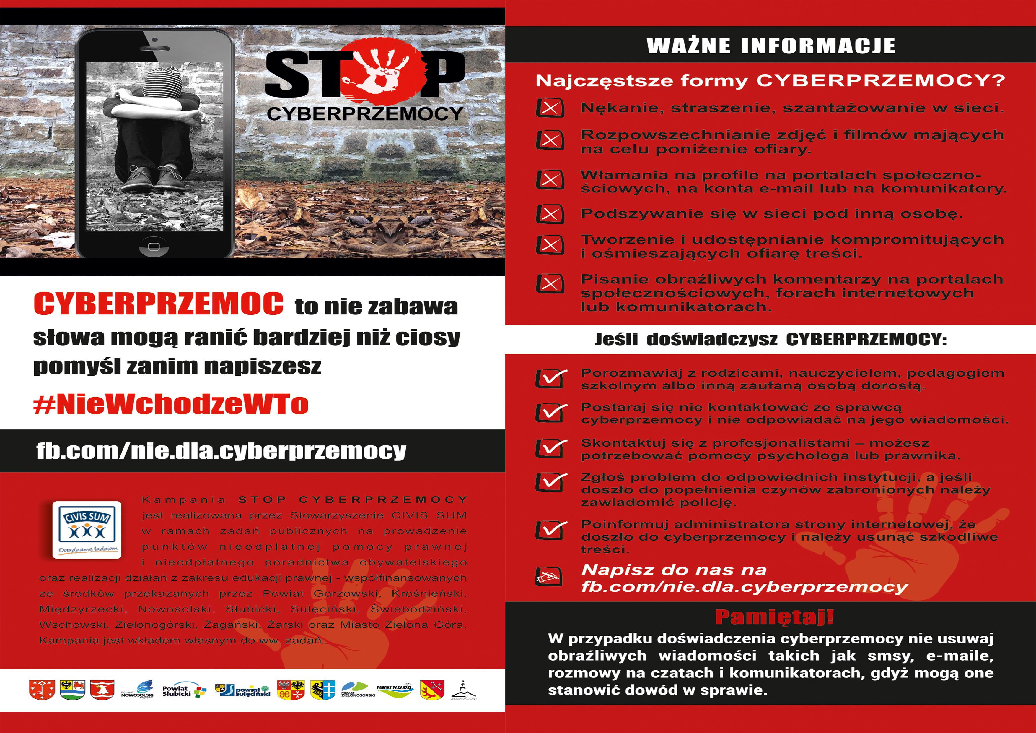 Ilustracja do informacji: Cyberprzemoc