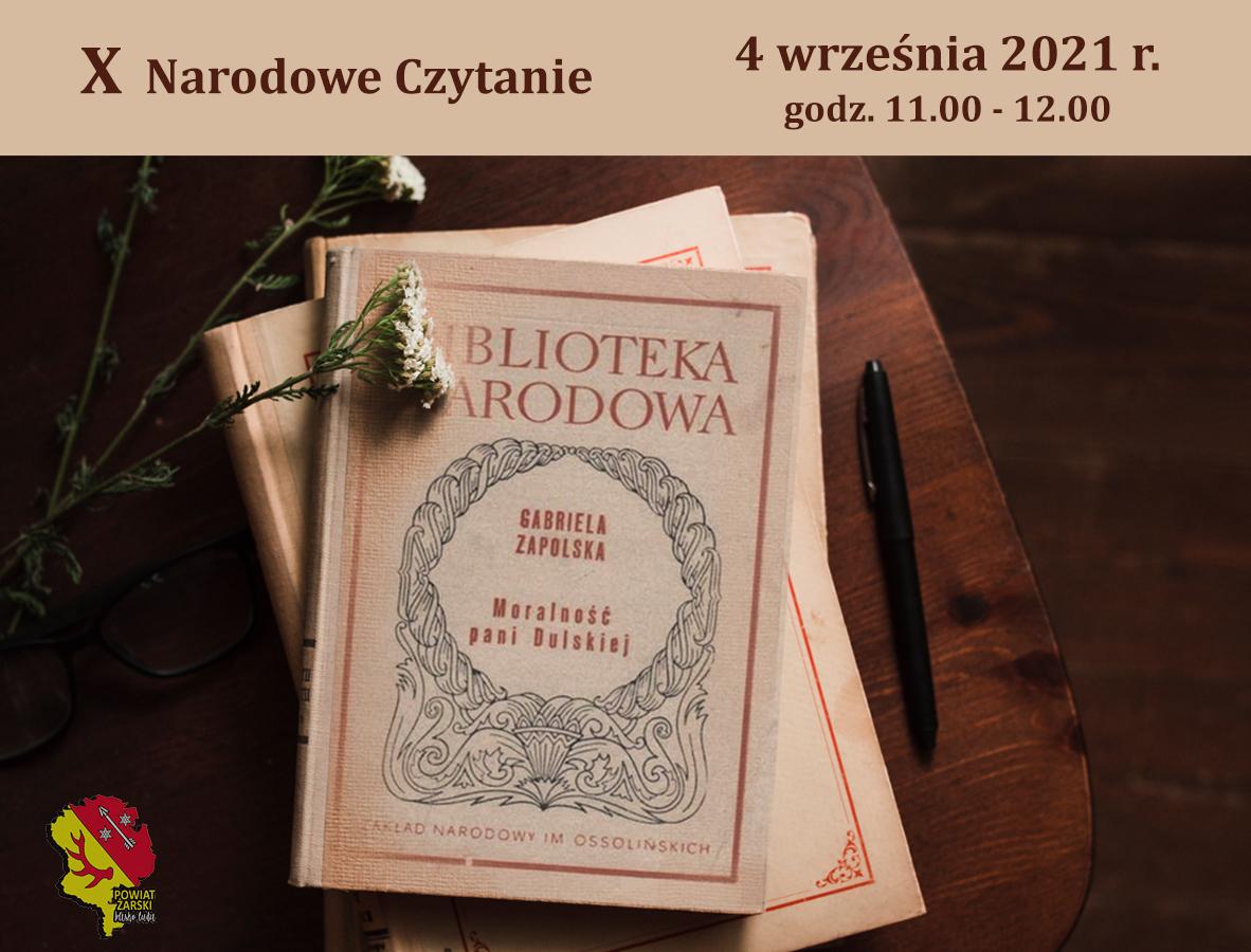 Ilustracja do informacji: X Narodowe Czytanie 2021