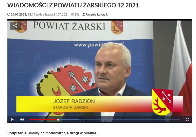 Ilustracja do informacji: WIADOMOŚCI Z POWIATU ŻARSKIEGO 12/2021