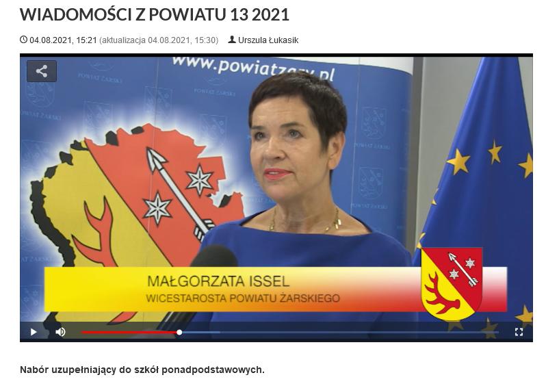 Ilustracja do informacji: WIADOMOŚCI Z POWIATU 13/2021